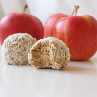 Raw Äppelbollar
